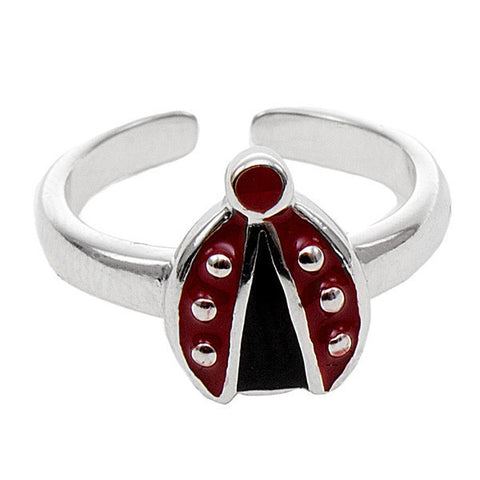 Related product : Anello bimba in argento con coccinella