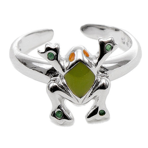 Related product : Anello bimba in argento con rana