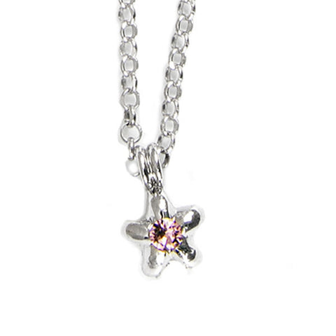 Related product : Collana in argento con stella e cristalli Swarovski rosa