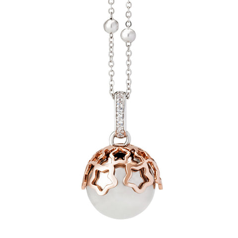 Related product : Collana chiama angeli bicolor con stelle traforate