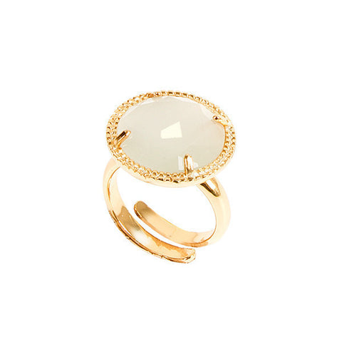 Related product : Anello regolabile con cristallo bianco