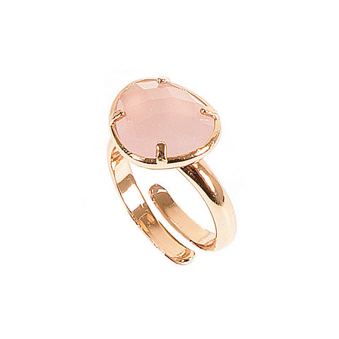 Related product : Anello regolabile con cristallo rosa
