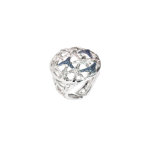 Related product : Anello rodiato con decoro in glitter silver
