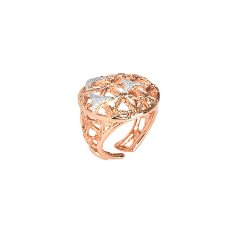 Related product : Anello rosato con decoro in glitter silver