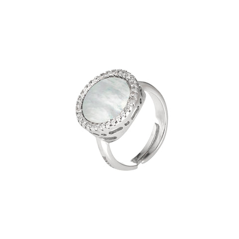Related product : Anello con madreperla centrale e zirconi laterali