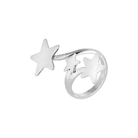 Related product : Anello contrariè rodiato con stelle degradè