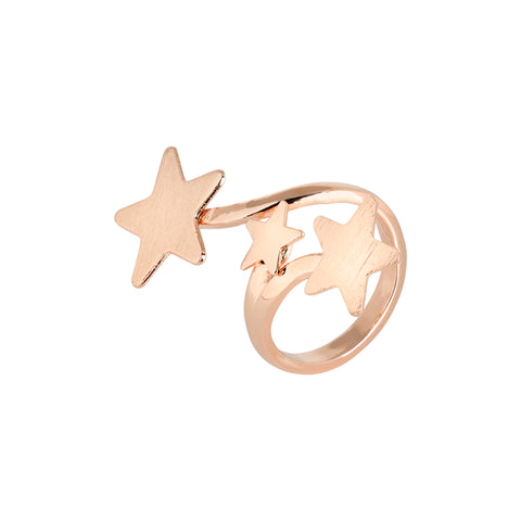 Related product : Anello contrariè rosato con stelle degradè