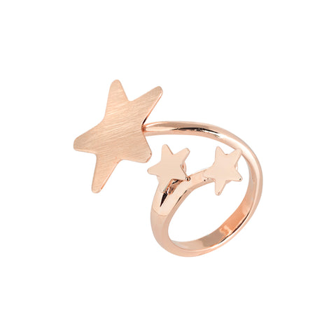 Related product : Anello contrariè rosato con stelle