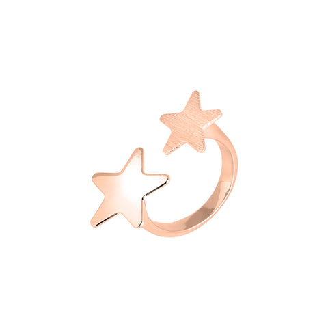 Related product : Anello aperto rosato con stelle