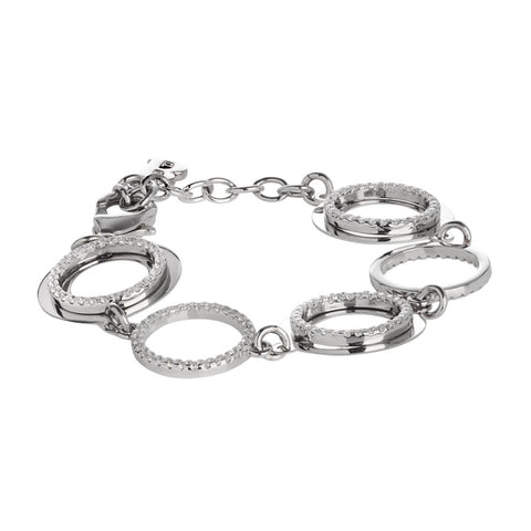 Related product : Bracciale con moduli circolari e rilievo in zirconi