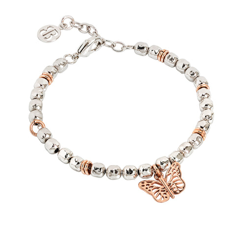 Related product : Bracciale beads con farfalla rosata