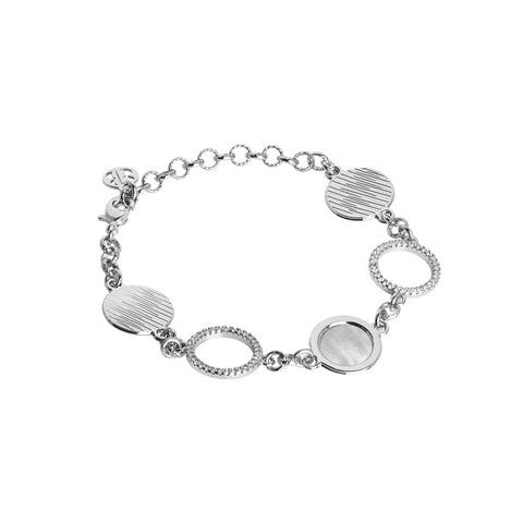 Related product : Bracciale con moduli in madreperla e zirconi