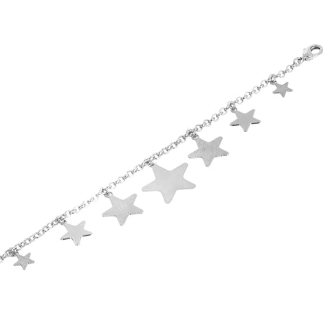 Related product : Bracciale rodiato con stelle pendenti