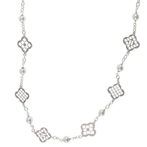 Related product : Collana lunga con perle Swarovski e motivi decorativi a croce