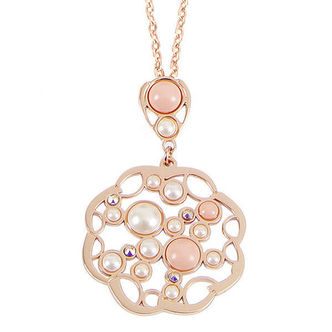 Related product : Collana rosata con pendente e nuvola di Swarovski