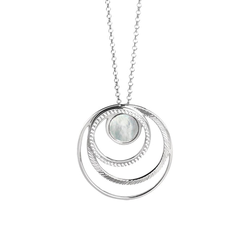 Related product : Collana con pendente di madreperle e zirconi