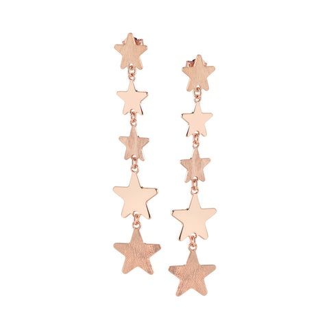 Related product : Orecchini rosati con stelle degradè pendenti