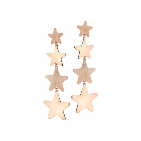 Related product : Orecchini rosati con stelle degradè