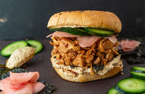 Japanese Umami Jackfruit Burger with The Happy Pear