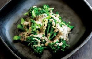 Broccoli with Miso & Sesame Dressing