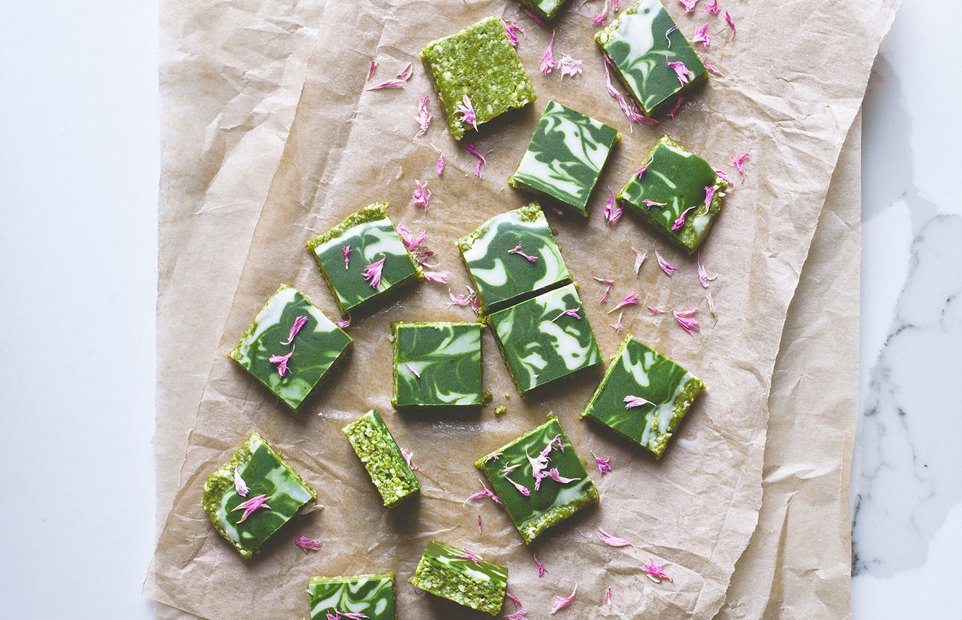 No-bake Matcha 'Brownies'