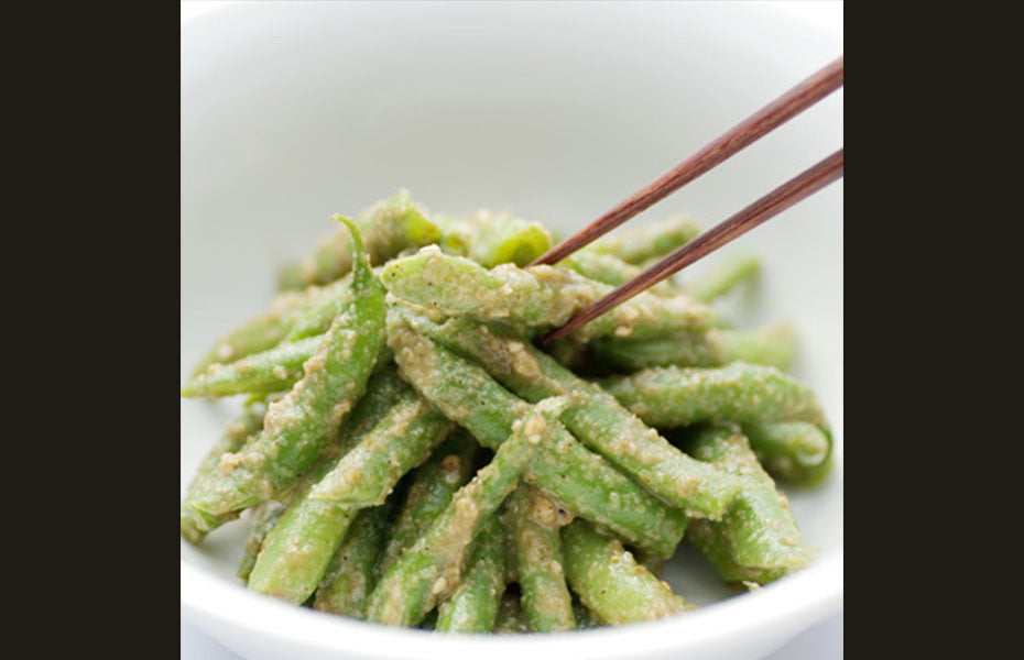 Green Beans with Toasted Sesame Sauce