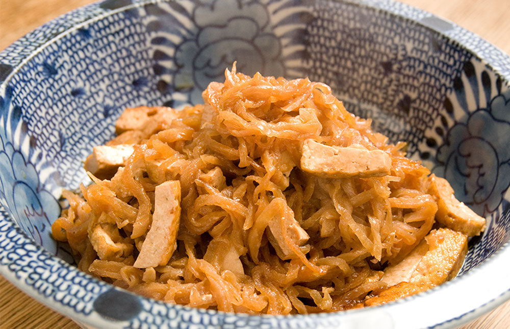 Kiriboshi Daikon with deep fried Tofu