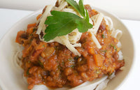 Lentil Bolognese with Brown Rice Noodles