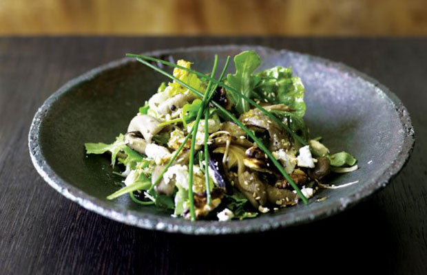 Mushroom Salad with Yuzu Dressing