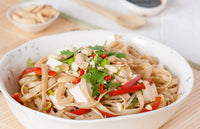 Pad Thai Salad with Organic Gluten Free 100% Brown Rice Noodles