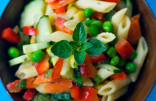 Penne Salad with Sesame-Orange Dressing