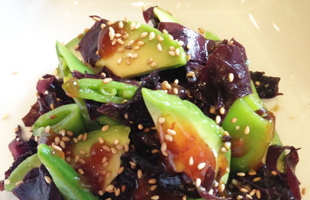 Sea Vegetable & Avocado Salad with Tangy Umeboshi Sauce