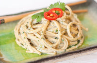 Soba Noodles with a Creamy Silken Tofu Herb Sauce
