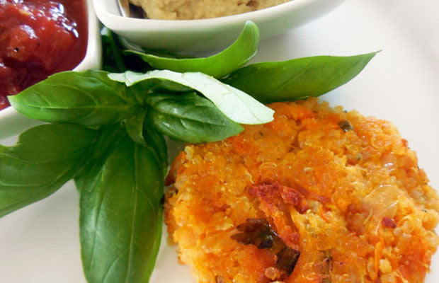 Sweet Potato Rice & Quinoa Fritters with Garlic Aioli