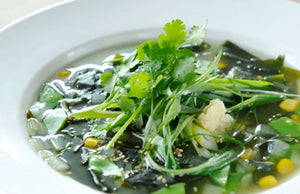 Wakame Soup with Snow Peas & Ginger