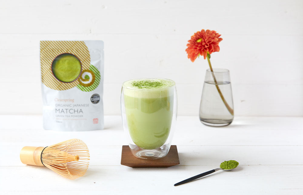 Frothy Warm Matcha Latte