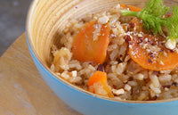 Fennel, Carrot & Roasted Almonds Risotto