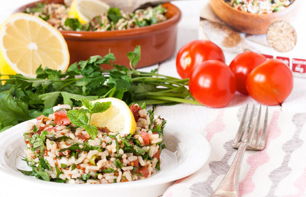"Quick Cook Rice & Quinoa ""Tabbouleh"""