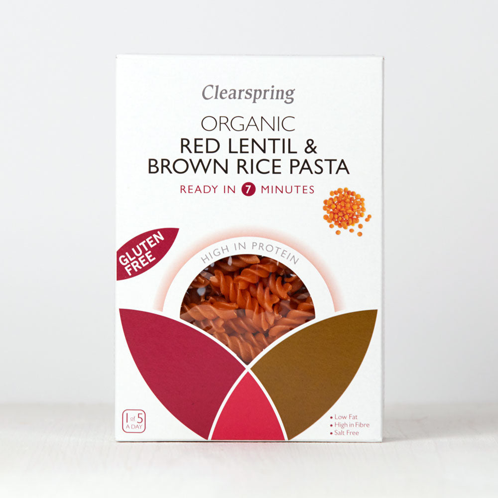 Organic Gluten Free Red Lentil & Brown Rice Pasta - Fusilli