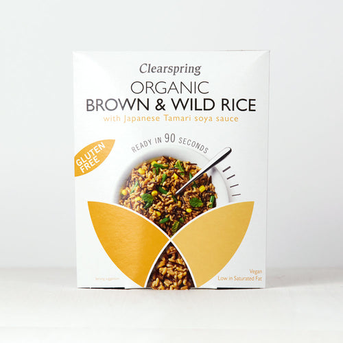 Organic Gluten Free 90sec Brown & Wild Rice - With Tamari Soya Sauce