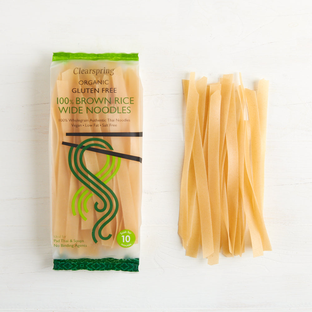 Organic Gluten Free 100% Brown Rice Wide Noodles