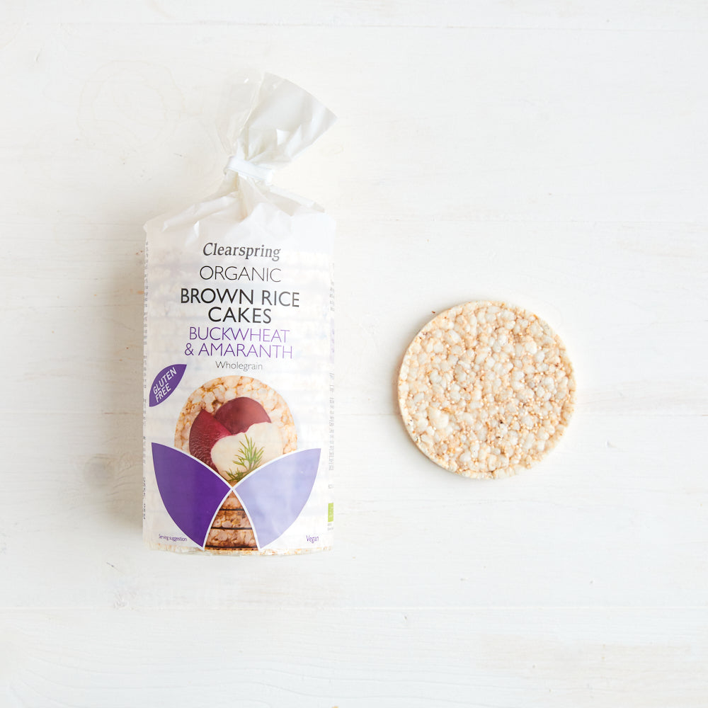 Organic Brown Rice Cakes - Buckwheat & Amaranth