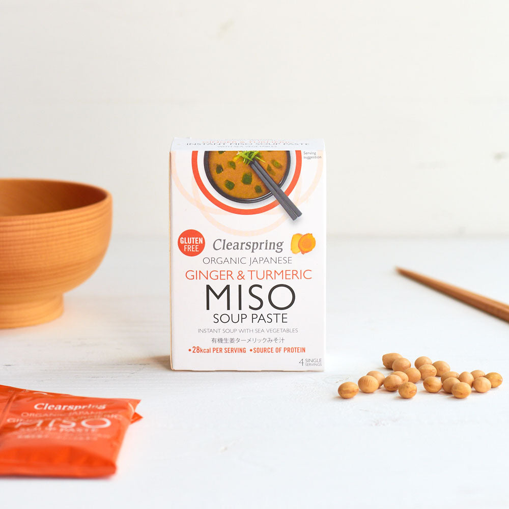 Organic Instant Miso Soup Paste - Ginger & Turmeric