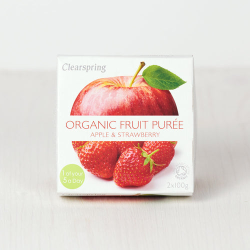 Organic Fruit Purée - Apple & Strawberry