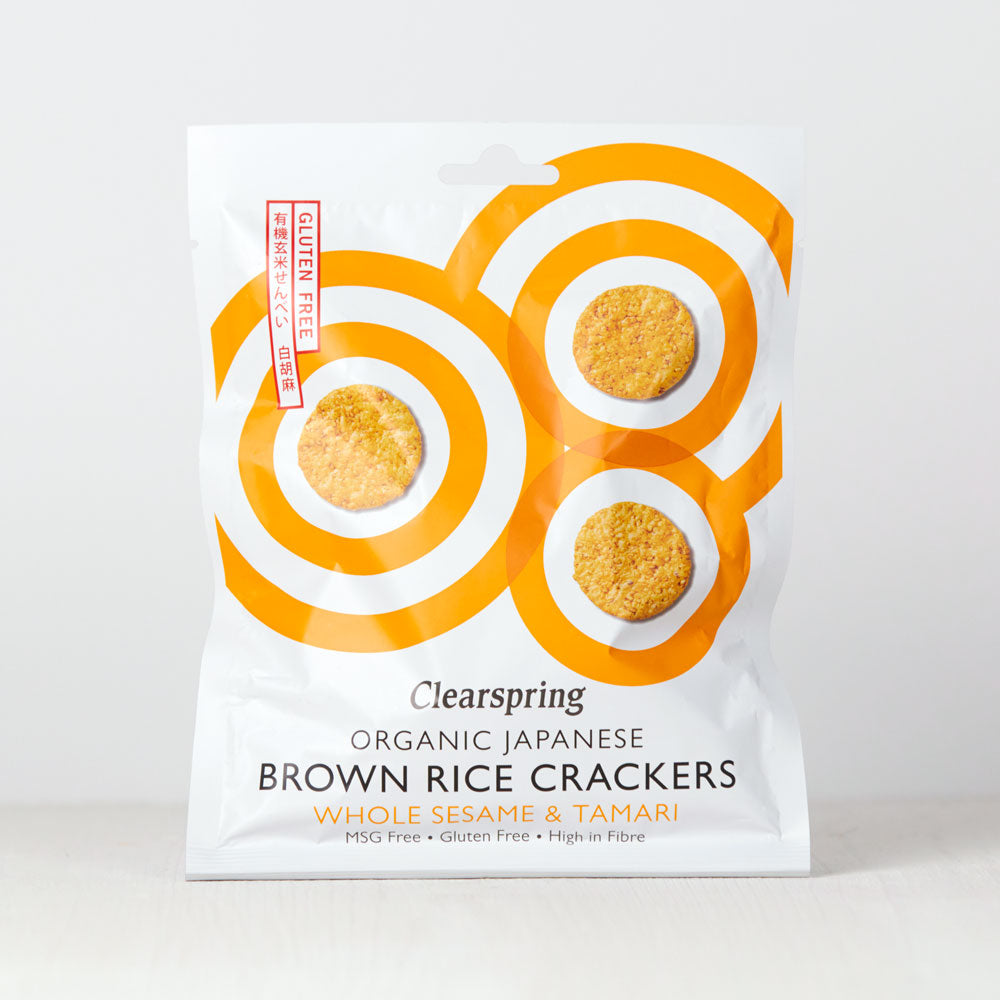 Organic Japanese Brown Rice Crackers - Whole Sesame