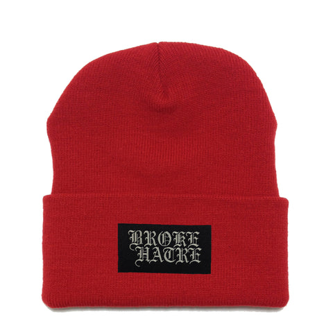 "Broke Hatrè ""Logo"" Beanie (RED)"