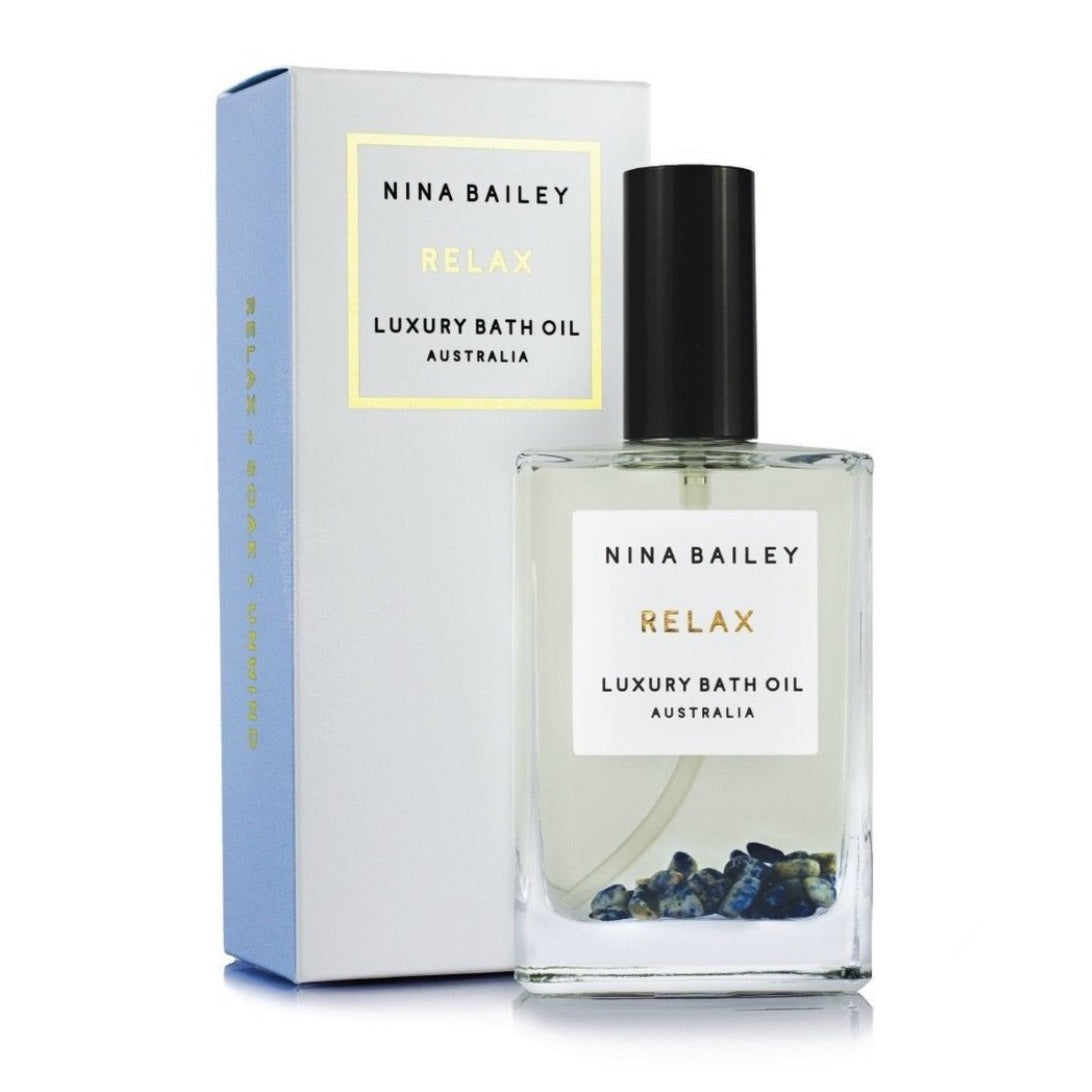 Nina Bailey Relax Bath and Body Oil Crystal Infused100ml