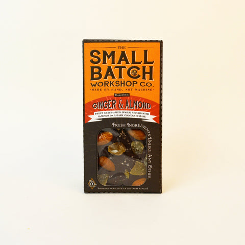 The Small Batch Co. Ginger and Almond BAR 100g