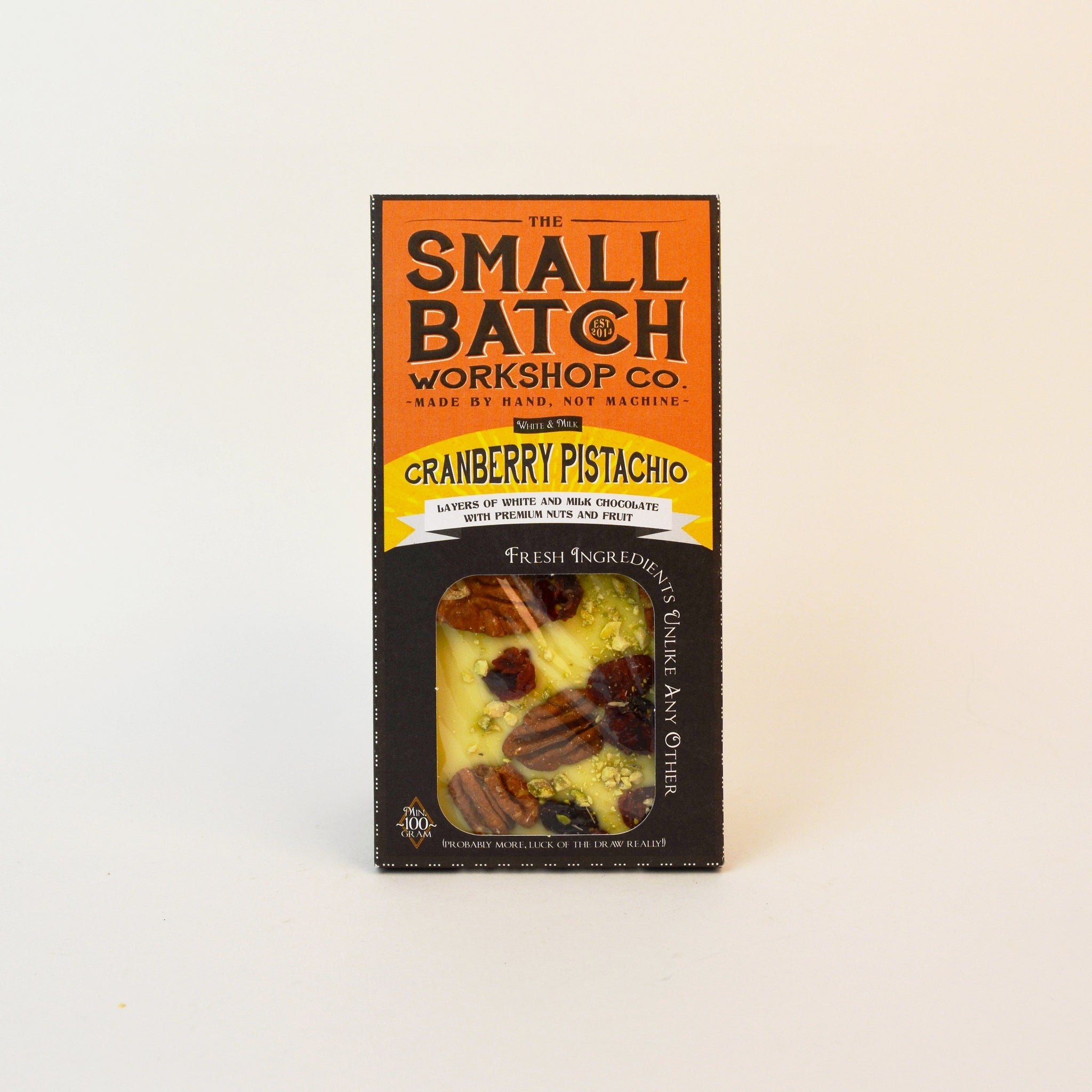 The Small Batch Co Cranberry Pistachio BAR 100g