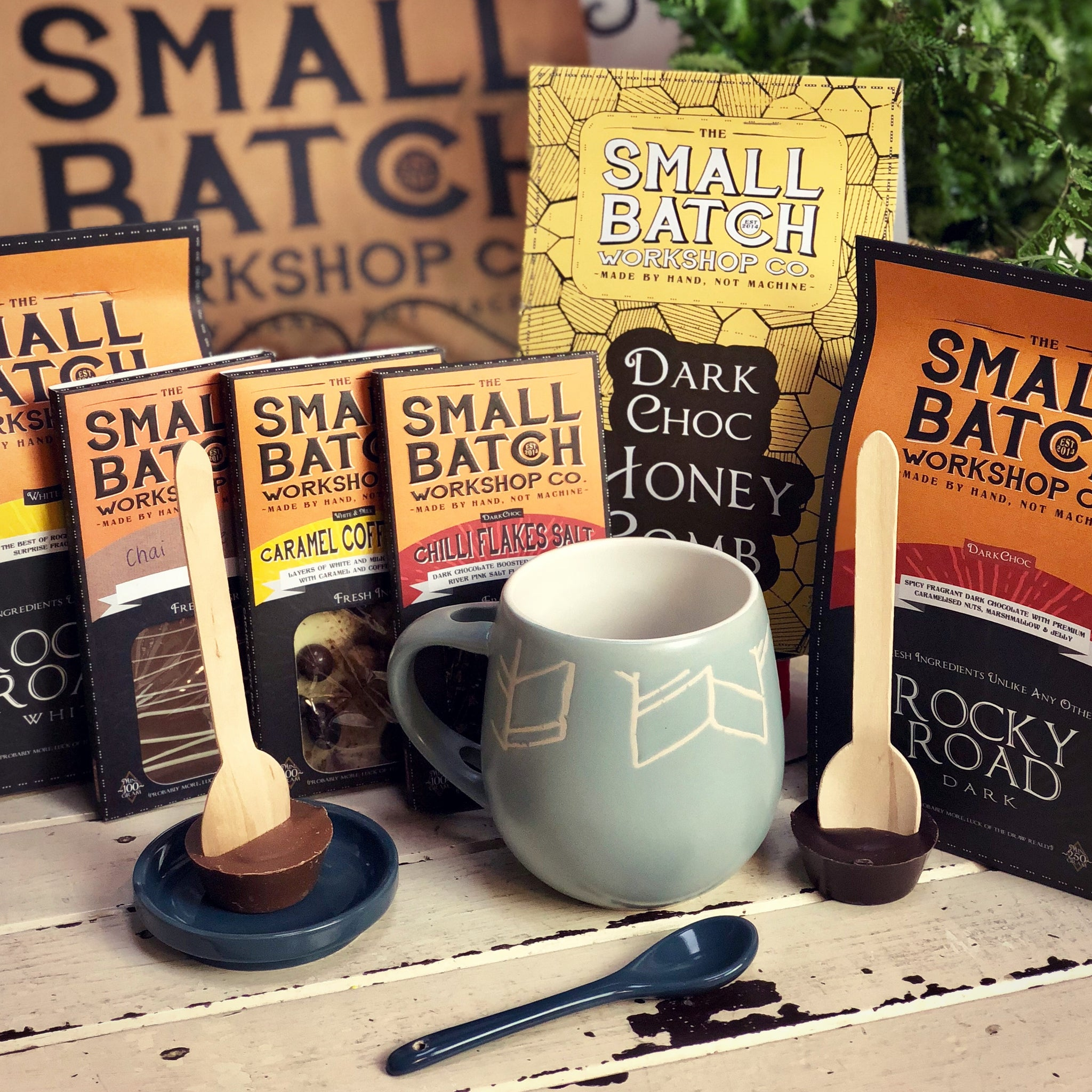 The Small Batch Co Hot Choc Spoon MILK or DARK